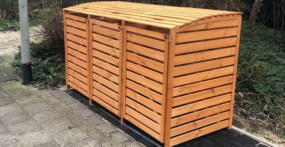 Abfallbox aus Holz von Garten Holz Vision für Mönchengladbach und Düsseldorf